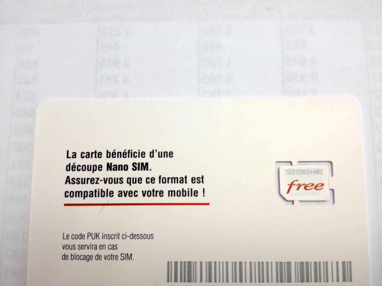 carte sim free nano Photos : les cartes Nano SIM sont prêtes chez Free Mobile