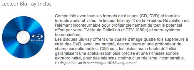 Free mentionne l 39 obligation du hdmi pour le lecteur blu ray - Est ce qu un lecteur blu ray lit les dvd ...