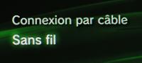 PS3 Choix du mode de connexion