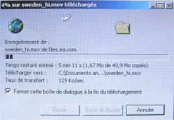 129 Ko/sec, quoi de plus normal en IP/ADSL ?