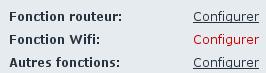 Configuration wifi Freebox