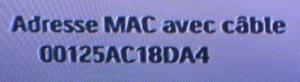 Xbox 360 adresse MAC