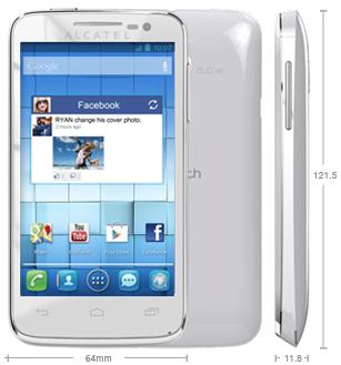 Nouveau t l phone chez free mobile l 39 alcatel one touch m pop - Telephone portable payer en plusieurs fois ...