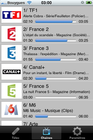 FreeTéléc liste des programmes