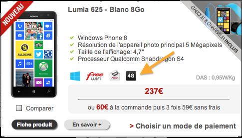 iphone 5 est il 4g free