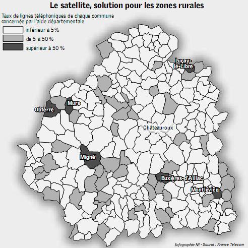 Zones éligibles aux satelites