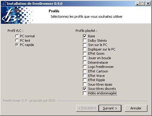 Installation de Freebrowser 0.9