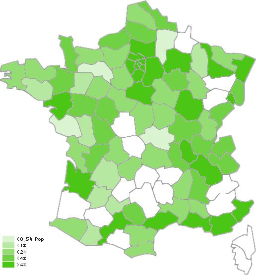 Carte du dégroupage