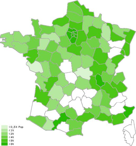 Carte de dégroupage