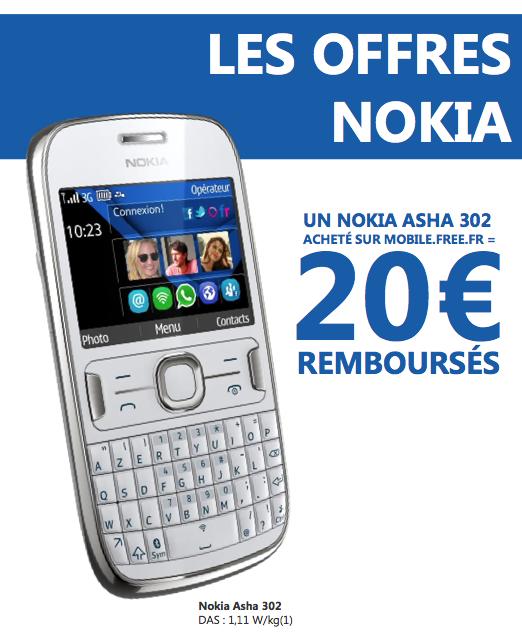 Offre : 20€ remboursés pour l'achat du Nokia Asha 302 chez ...