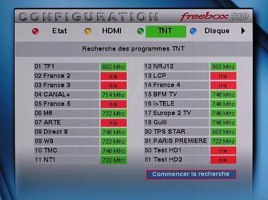 Scan TNT sur FreeboxHD