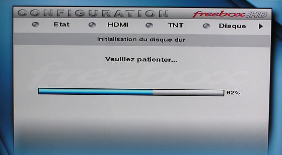 Initialisation du disque dur