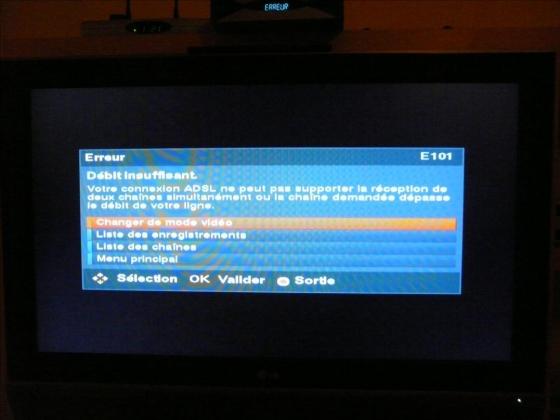 ecran freebox erreur 101
