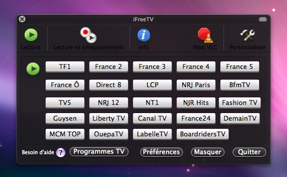 Interface IFreeTV