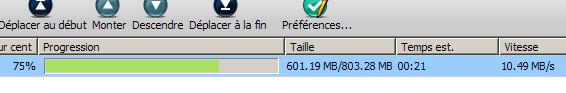 10.49 Mo/s en HTTP