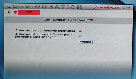 Initialisation du FTP