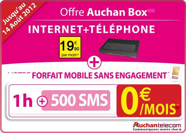 Carte Tnt Auchan.Auchan Telecom Propose Internet Et Le Mobile A 19 90 Mois
