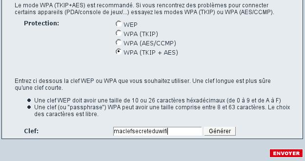 Interface Freebox wifi part 2