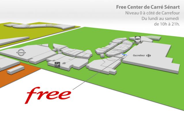 ouverture du free center de carr s nart demain 10h. Black Bedroom Furniture Sets. Home Design Ideas
