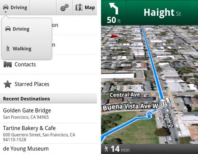 google maps propose la navigation pour pi tons. Black Bedroom Furniture Sets. Home Design Ideas