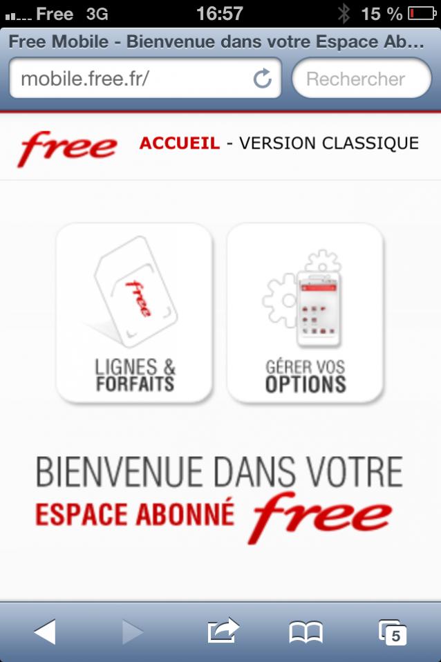 le site de free mobile se dote d 39 une version mobile. Black Bedroom Furniture Sets. Home Design Ideas