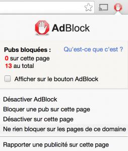 """Une fois sur Freenews, cliquez sur l'icône de l'extension (en forme de main), présente dans la barre d'outil en haut de votre navigateur. Cliquez ensuite sur l'option """"Ne rien bloquer sur les pages de ce domaine"""""""