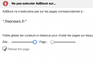 """Puis, dans la boîte de dialogue qui suit, déplacez le curseur """"Site"""" tout à droite. Validez en cliquant sur """"Exclure"""""""