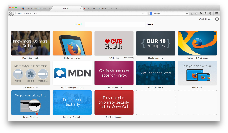 Publicité dans Firefox