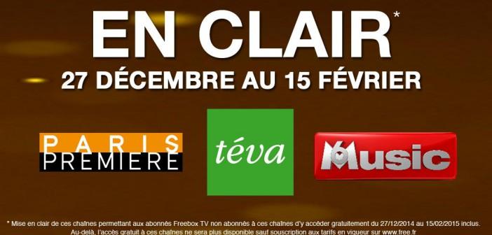 Paris Premiere, Téva et M6 Music en clair
