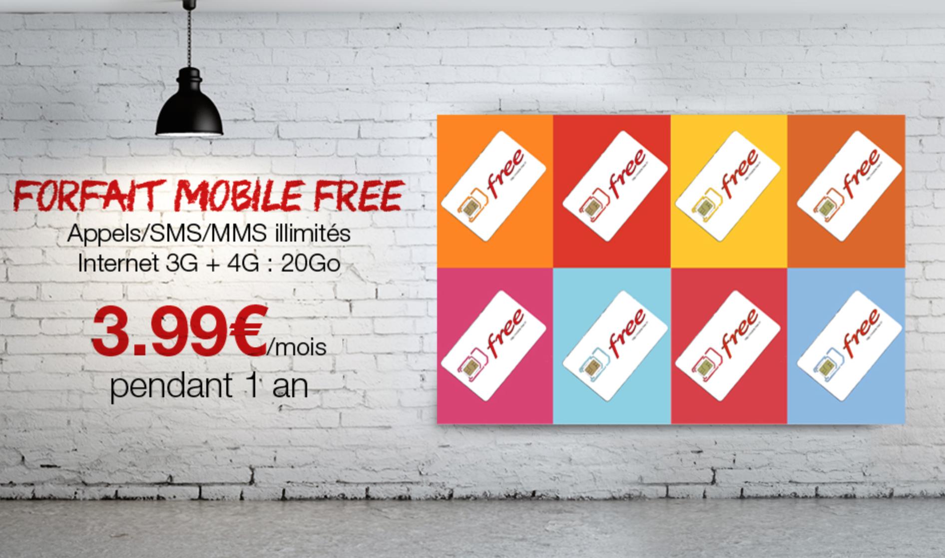 le forfait free mobile 3 99 mois pendant un an sur vente priv e. Black Bedroom Furniture Sets. Home Design Ideas