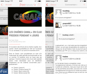 Freenews iOS - Navigation