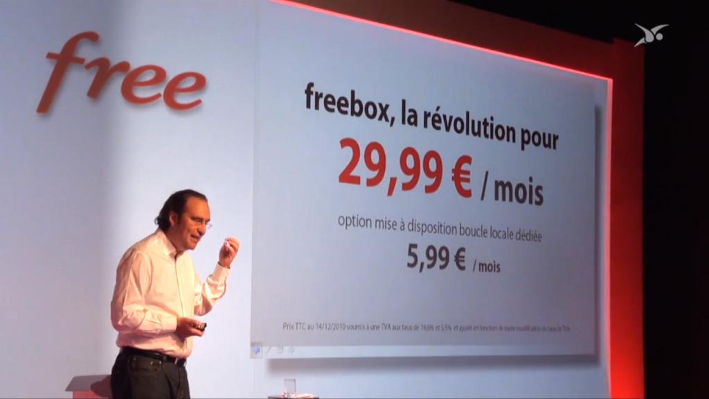 Nouveau tarif Freebox Révolution