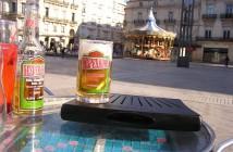 Une Freebox V3 V4 dans un bar (place de la Comédie, Montpellier)