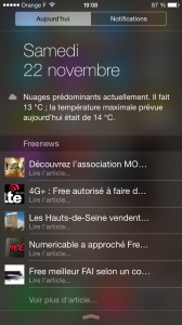 Freenews iOS - Widget