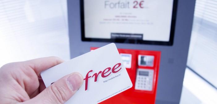 Borne interactive Free Mobile et carte SIM