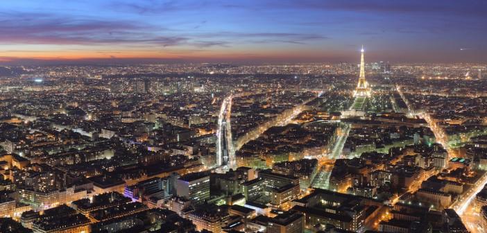 Vue de Paris de nuit