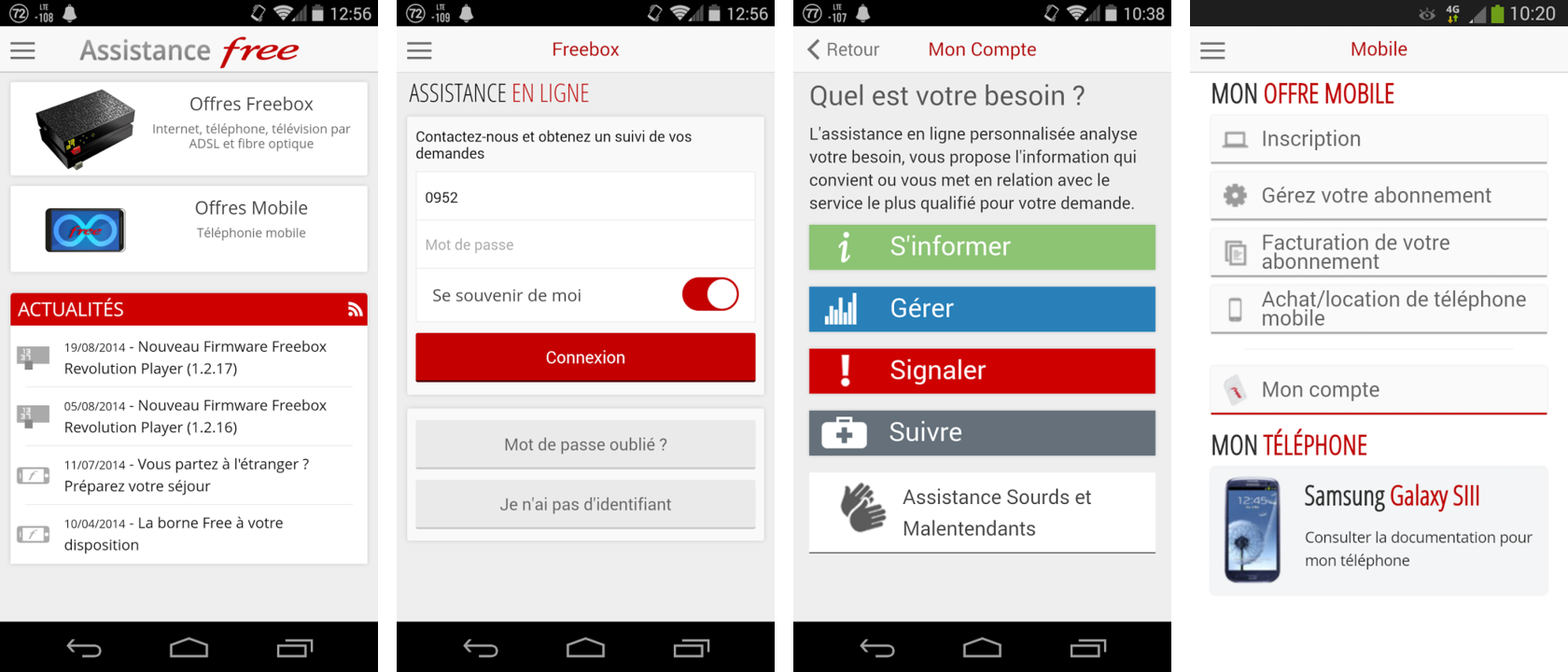 Assistance Free app officielle
