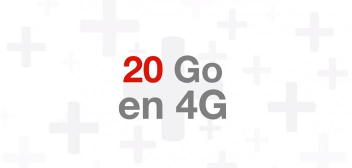 Free Mobile 20 Go en 4G