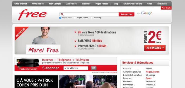Portail web Free.fr