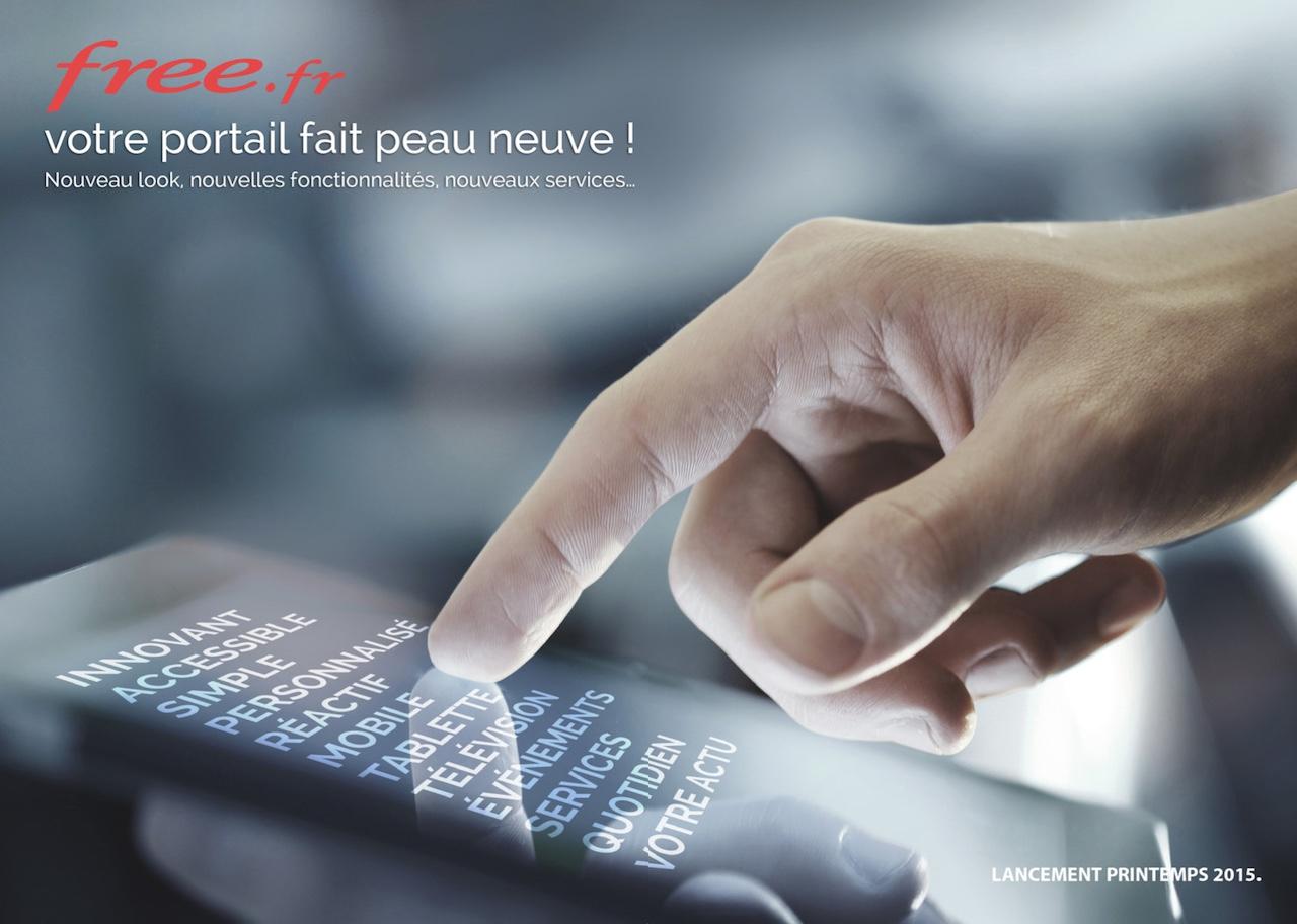 Teasing nouveau portail Free.fr