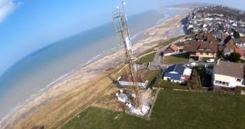 Antenne relais Free Mobile - vue aérienne