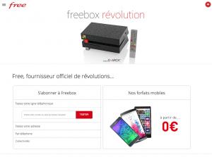 Nouveau site web Free