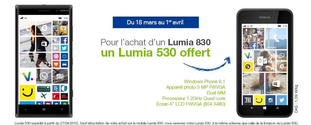Offre Lumia offert