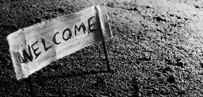 Welcome bienvenue arrivée