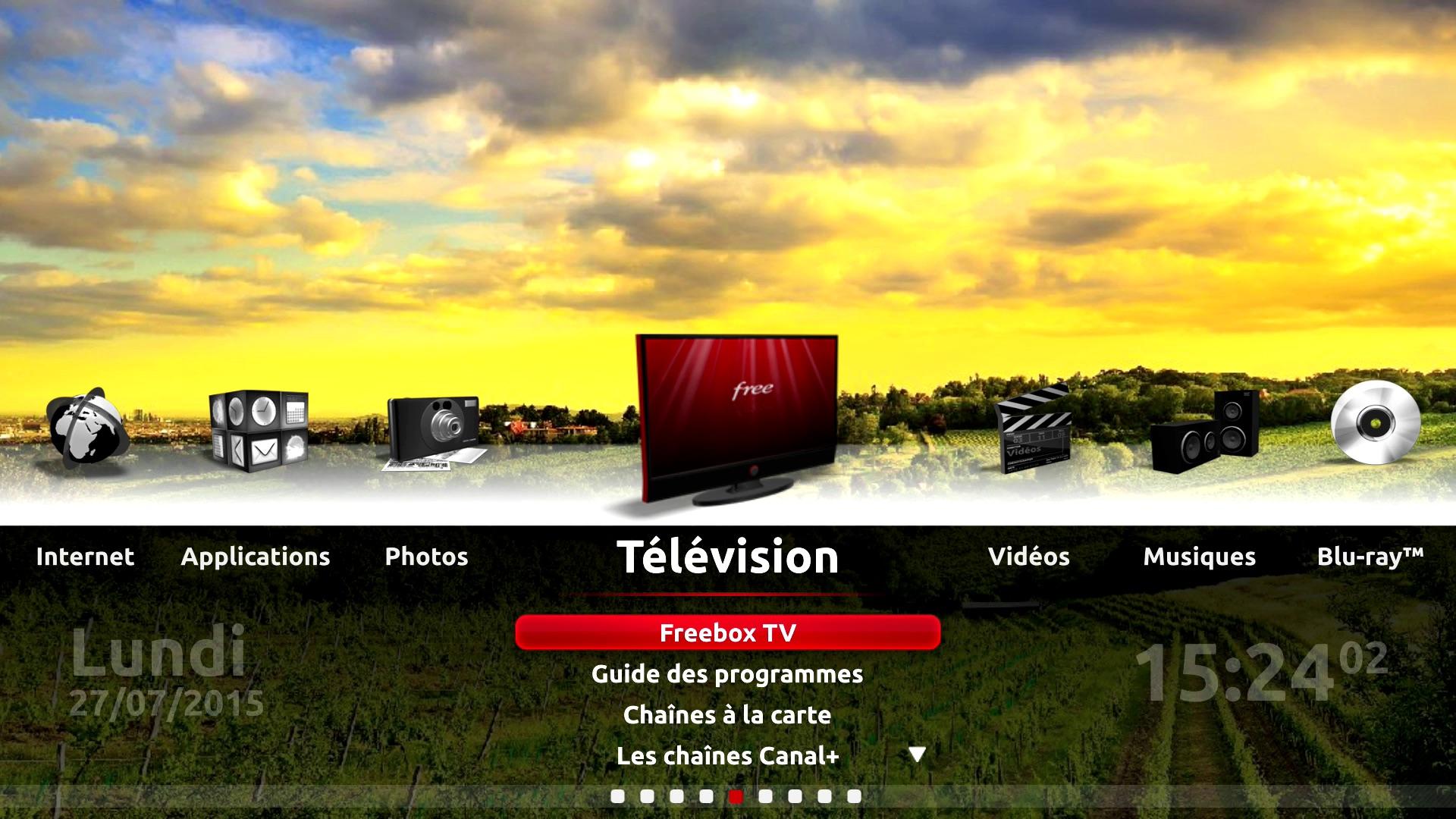 Astuce utilisez des fonds d 39 cran d filants sur freebox - Fond d ecran cheminee pour tv ...