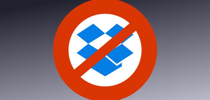 No Dropbox logo