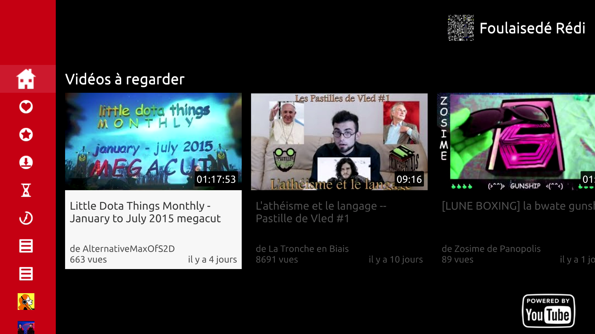 Aperçu De Twitch, YouTube Et Dailymotion Sur Freebox Player