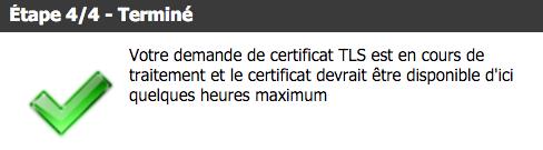 """Si vous avez choisi de bénéficier d'un certificat """"Let's Encrypt"""", votre URL sera accessible de façon chiffrée avec HTTPS."""