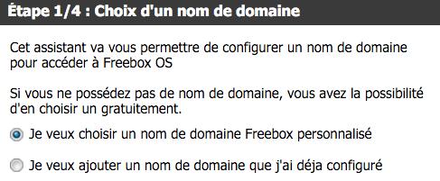 Choisissez de profiter d'un nom de domaine personnalisé Freebox.
