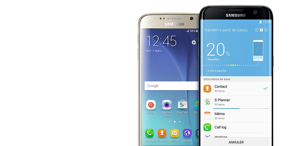 Le Galaxy S7 (à g.) et le Galaxy S7 Edge (à d.)